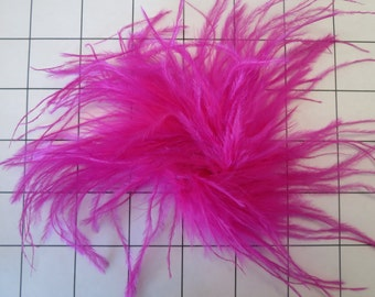 Hot Pink Ostrich Feathers puff Embellishment for Dance Costume (E-37)