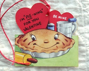 Retro I'm Pie-ning For You Baking Pie Valentine Gift or Scrapbook Tags #394
