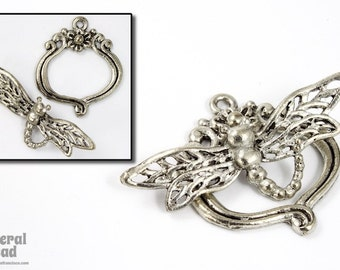30mm Antique Silver Dragonfly Toggle Clasp #CLB124