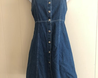Bugle Boy Denim Dress, Snap Button Front, Size 2