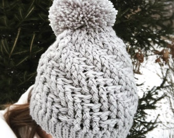 Womens hat, winter hat, knit hat for women, winter beanie, womens beanie, crochet hat for women, knit winter hat with pom