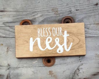 Wood sign living room, Rustic home decor, Gift for new home, Farmhouse wall decor