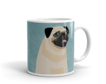 Gifts for Pets, Gifts for Women, Dog Coffee Mug, Husband Gift, Pug Mug, Dog Mug, Dog Gift, for Dog Lover Gift for Him, Pet Gifts for People