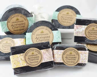 Activated Charcoal Acne Face Soap Bar (Vegan)