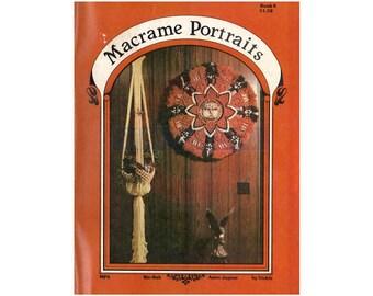 Macrame Portraits Book 6 - 7 Vintage Macrame Patterns Instant Download PDF 23 pages