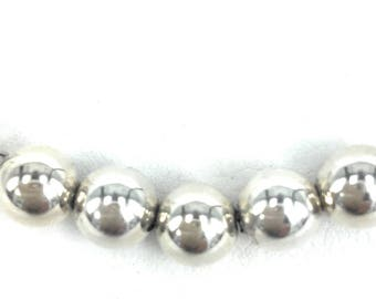 5 Balls Sterling Silver chain Necklace