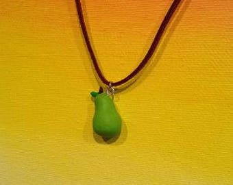 Green Pear Necklace