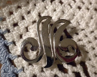 Vintage Danecraft Sterling Silver Initial M