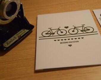 Bicycle Wedding Invitation.