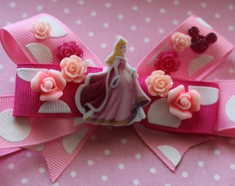 Pink Cinderella Winter Hair Bow