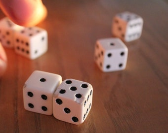 Family Room Wall Decor - Mancave Decor - Game Room Wall Art - Photograph of Old Dice