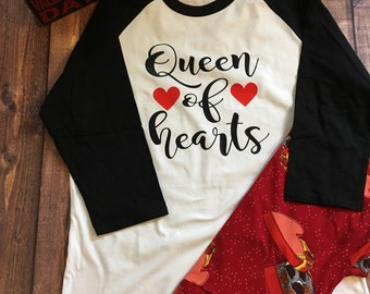 Queen of Hearts Valentine Raglan