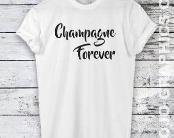 Champagne Shirt - Champagne Forever, Start with coffee end with wine shirt, Mom Shirt, Champagne Shirt, Champagne Tee, Champagne T-shirt