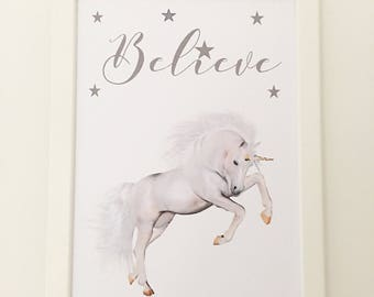 Unicorn Believe A4 print