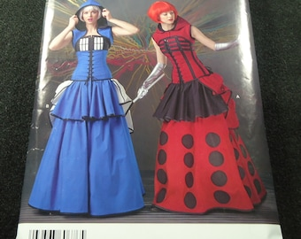 Simplicity Misses' Doctor Who Costume Pattern S0676 Size 14, 16, 18, 20, 22
