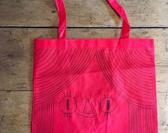 Little lady face tote bag