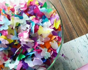 Biodegradable Handmade Rainbow Tissue Paper Butterfly Confetti Wedding Party 5 - 50handfuls