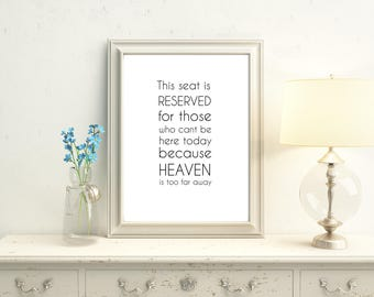 wedding memorial sign, in loving memory wedding sign, heaven wedding sign, we know you would be here today if heaven wasn't so far away