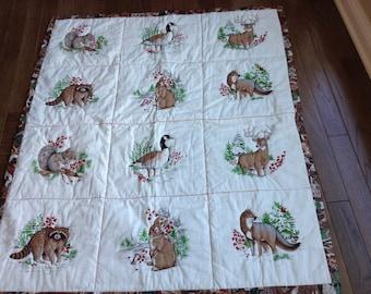 Winter woodland quilt #153