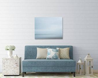 Oregon Beach Photography - Abstract Photo - Beach Photo - Oregon - Sky - Fine Art Photograph - Oregon Coast - Teal Gray Blue Home Decor