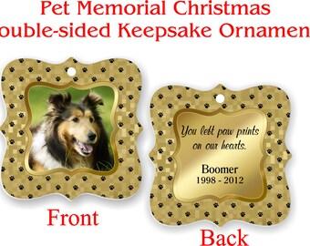 Pet Memorial, Keepsake Ornament, Photo Ornament, Christmas Ornament, Photo Gift Idea, Personalized - PMO3-4