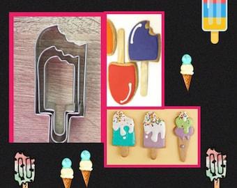 M Bitten Ice Cream Popsicles Cutters Set