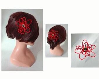 Hair clip flower hair clip, Haarklammen wedding Hat, wedding barrette, hair stick, fascinator, fascinator
