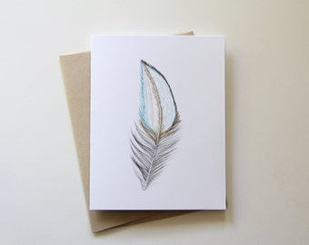 Feather Card- Single