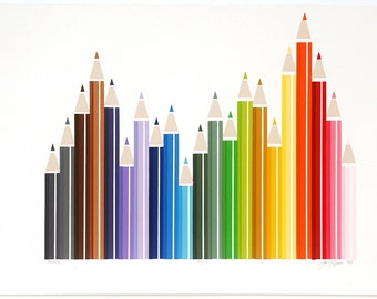 Colored Pencils Silkscreen Print - 3 of 7