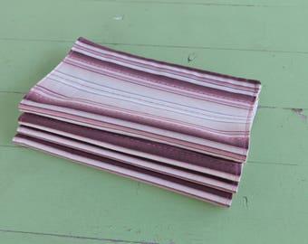 Everyday Cloth Napkins, Set of 4, Dusty Pink Stripe