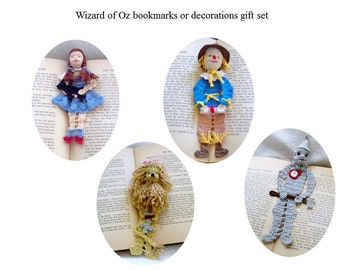 wizard of Oz bookmarks/decorations gift set, shadow box art set, readers gift set, Christmas gift set, library decor, nursery decor set,