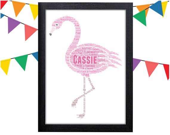 Personalised Flamingo Print