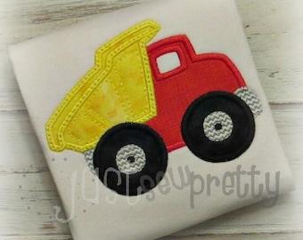 Dumptruck Embroidery Applique Design