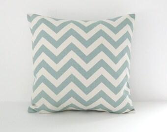 Chevron Pillow Cover Blue Pillow Decorative Pillow Beachy Pillow cover Nautical Pillow Size Choice