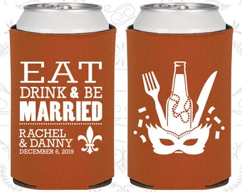 Eat Drink and Be Married, New Orleans Wedding Favors, Nola Wedding Favors, Mardi Gras Wedding Favors, Fleur De Lis Wedding Favors (420)
