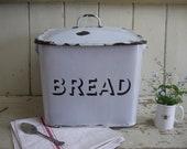 Vintage Enamel Bread Bin ...