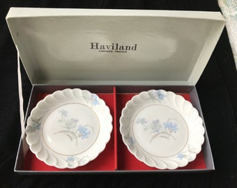 Haviland Limoges Torse Sweets Plates Signed by Artist