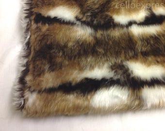 Reindeer Faux Fake Fun Animal Fur - Soft 20mm Pile - Sold in Various Lengths - DIY Teddy Bear Crafts