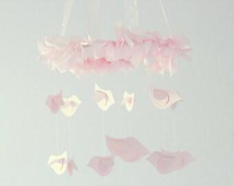Pink Bird Nursery Mobile- Baby Mobile, Baby Shower Gift