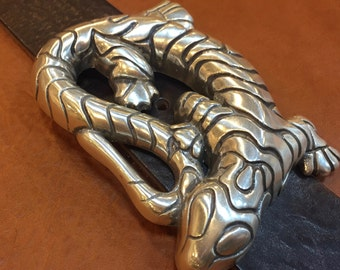 Italian Designed Belt Buckle - Lizard Design