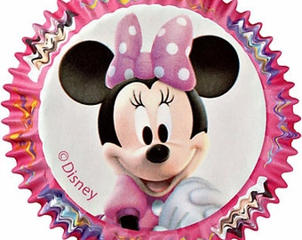 Minnie Mouse Cupcake Liners/ Baking Cups/ Cupcake Papers