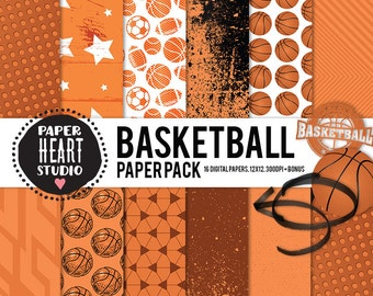 Digital Papers- BASKETBALL Paper Pack Plus (16)