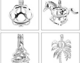 MERZIEs Pearl Cage Horse Paw Tree Palm Pine U PICK 1, 5, 10 pendant #14 - Ships from USA