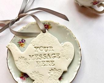 For The Tea Lover - Tea Lover - Gift For Tea Lovers - Tea Gift - Tea Lover Gift Idea - Tea Lover Gift - Tea Themed Gift - Tea Ornament
