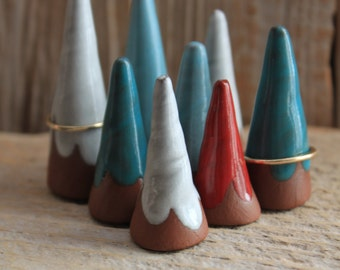Handmade Pottery Ring Cone - 1-2 Weeks to Ship - Ring Holder