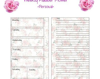 Weekly Planner Inserts,Weekly Planner,Weekly Agenda, Weekly Organizer, Filofax Personal Planner, Filofax inserts