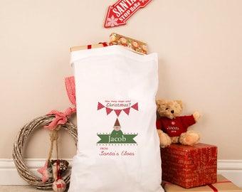 Personalised Elves Pillowcase Sack - Santa's Little Elves, Xmas Elf, Christmas Present Sacks, Kids Christmas Sacks, Christmas Elves, Elves.