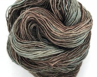 Old 4ply hand dyed merino nylon sparkle sock yarn 100g