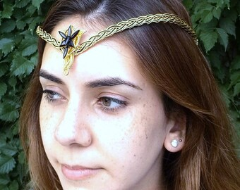 Black Gold Evenstar Circlet Crown Tiara Celtic Weave