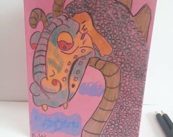 Hand Drawn Dragon Card